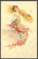 JL113 ART NOUVEAU SAISON Eté FEMME SEASON SUMMER LADY WHEAT Fine LITHO 1900 - Non Classificati