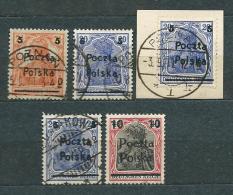 Poland Polen Pologne 1919, MiNr 130-134 Incomplete Series - Lot - Unused And Used - See Description - 1919-1939 République