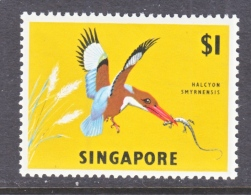 SINGAPORE  67 A     **  Wmk.  Sideways  FAUNA  BIRD - Singapore (1959-...)