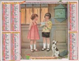 CALENDRIER ALMANACH DU FACTEUR 1992 - GUICHETS DE POSTE, BOITE AUX LETTRES, ENFANTS, CHIEN - VOIR LE SCANNER - Calendriers