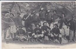 DOUANE---a La Frontiére Franco-italienne--bersagliers Et Chasseurs Alpins---voir 2 Scans - Douane