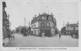 MAISONS - LAFFITTE  -  AVENUE DE POISSY ET RUE SANT NICOLAS - Maisons-Laffitte