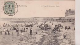 (R2)MANCHE , CHERBOURG , La Plage à L'heure Des Bains - Cherbourg