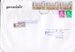 Spain PREMIAIR Registered Certificado Label AEROPUERTO Palma MALLORCA 1995 Cover Letra Denmark 3x Catedral Santa Ana - 1991-00 Briefe U. Dokumente