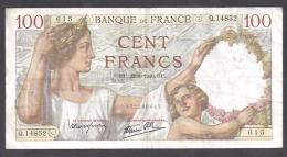 100 F  SULLY  Du   22 - 8 - 1940 - 1871-1952 Circulated During XXth