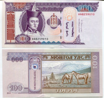 Mongolia - 100 Tugrik UNC 2014 - Mongolia