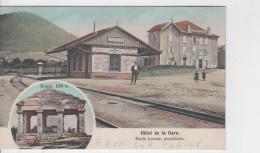 88 - RAON SUR PLAINE / LA GARE ET L'HOTEL DE LA GARE - Autres Communes
