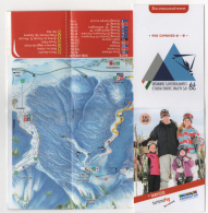 Alt899 Ski Area Map Mappa Piste Sci Impianti Risalita Skilift Cablecar Snow Park Snowboard Tarvisio Alpine Championship - Sport Invernali