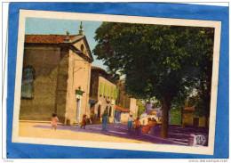 REALMONT-Le Temple-la Poste-route D´alban-animée-années 30-40 édition Poux - Realmont