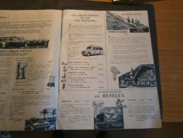 """BRUXELLES -CATALOGUE S.A. GENERALCAR Printemps été 1955 - """" Voyagez Avec Nous Sur Les Routes D'Europe"""". - Sports & Tourisme"""