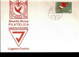 LUGANO BORSA FILATELICA 1970 CON AFFRANCATURA CALCIO - Calcio
