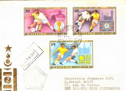 BUSTA VIAGGIATA IN RACCOMANDATA 1978 MONGOLIA LUXEMBURG - Coppa Del Mondo