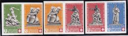 Schweiz Pro Patria 1940 PP Satz Blockausschn.Paare Zu228-30** - Neufs