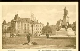 Postcard, Romania, Bucuresti, IC BRATIANU Monument And Domains Ministry, Unused , Printed In Germany, 1916-17 - Dolfijnen