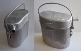 1 Ancienne Grande Gamelle Collective Bouthéon  Armée Française WW2. Aluminium + 1 Gamelle Indo - Equipaggiamento