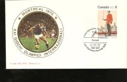 MONTREAL 1976 OLIMPIC GAME BUSTA CON ANULLO SPECIALE - Calcio