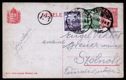 A3889) Ungarn Serbien Serbia Karte Von Pancsova 20.1.1920 Nach Szolnok - Ungarn