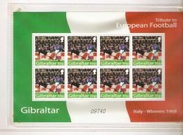 GIBRALTAR TRIBUTE TO EUROPEAN FOUTBAL ITALY ITALIA  WINNER 1968 - Europei Di Calcio (UEFA)