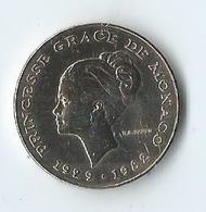 Monaco Princesse Grace De Monaco 10 Francs 1982 - 1960-2001 Nouveaux Francs