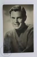 Vintage Real Photograph Postcard Movie Actor: Jeffrey Hunter - Actores