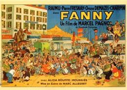 CPM COULEUR DESSIN DUBOUT-AFFICHE FILM FANNY 1950-PAGNOL RAIMU FRESNAY DEMAZIS CHARPIN - TTB - - - Dubout