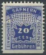 1379 - SAFNERN Fiskalmarke - Fiscaux