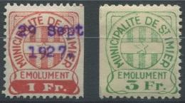1381 - ST. IMIER Fiskalmarken - Steuermarken