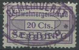 1384 - SEEBERG Fiskalmarke - Fiscaux