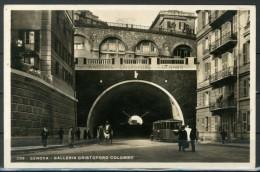 GENOVA - Galleria Cristoforo Colombo - Cartolina Viaggiata Anno 1936 - Piccola - Come Da Scansione - Genova (Genua)