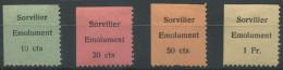1387 - SORVILIER Fiskalmarken - Fiscaux