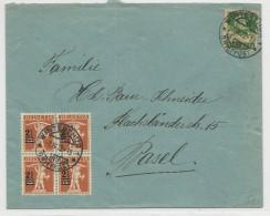 SUISSE - 1922 - ENVELOPPE De WINTERTHUR Pour BASEL - Svizzera