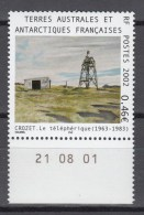 TAAF FSAT 2002,1V,building,gebouw,gebäude,bâtiment,edificio,MNH/Postfris(A2429) - Bases Antarctiques