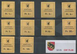 1394 - ZWEISIMMEN Fiskalmarken - Fiscaux