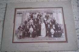 PHOTO Originale De MARIAGE   Sur Carton  Groupe De Personnes Saint Florentin-yonne- - Anonymous Persons