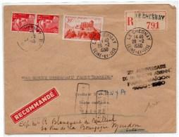 1950 - ENVELOPPE RECOMMANDEE De LE CHESNAY Pour SAIGON -> REEXPEDIEE - Marcophilie (Lettres)
