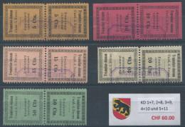 1397 - TRAMELAN Fiskalmarken Im Kehrdruck - Fiscaux