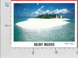CARTOLINA VG MALDIVE - Dhiffushi - Atollo Di Ari - Panorama - 10 X 15 - ANN. 2012 - Maldive
