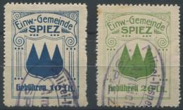 1398 - SPIEZ Fiskalmarken - Steuermarken