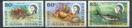 158 Territoire Britannique OCEAN INDIEN 1970 - Poisson Crustacee (Yvert 36/38) Neuf ** (MNH) Sans Charniere - Territoire Britannique De L'Océan Indien