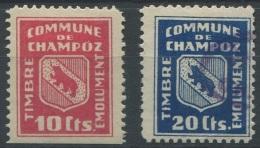 1405 - CHAMPOZ Fiskalmarken - Steuermarken