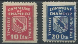 1405 - CHAMPOZ Fiskalmarken - Fiscaux