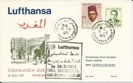 RF 71.17, Lufthansa, Casablanca - Zurich, B-707, 1971 - Maroc (1956-...)