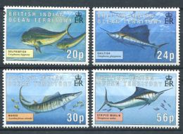 158 Territoire Britannique OCEAN INDIEN 1995 - Poisson (Yvert 169/72) Neuf ** (MNH) Sans Charniere - Territoire Britannique De L'Océan Indien