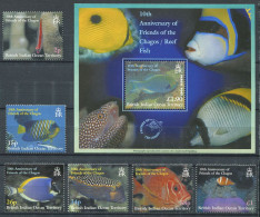 158 Territoire Britannique OCEAN INDIEN 2002 - Poisson (Yvert 250/55 - BF 19) Neuf ** (MNH) Sans Charniere - Territoire Britannique De L'Océan Indien