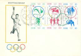 FDC Sechserblock Mi. 1039/44 Olympische Sommerspiele Tokio 1964 - [6] Repubblica Democratica
