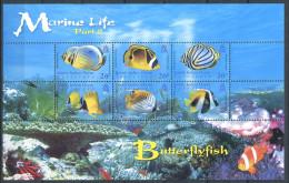 158 Territoire Britannique OCEAN INDIEN 2006 - (II) Poisson Papillon (Yvert 356/61) Neuf ** (MNH) Sans Charniere - Territoire Britannique De L'Océan Indien