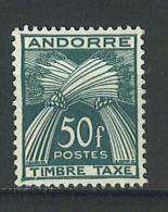 VEND BEAU TIMBRE TAXE D ´ ANDORRE FRANCAIS , N° 40 , NEUF SANS CHARNIERE !!!!