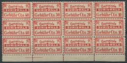 1410 - SUMISWALD Fiskalmarke Im 12er Block - Steuermarken