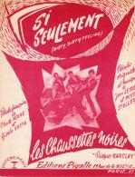 PARTITION FRANCO ANGLAISE CHAUSSETTES NOIRES E. MITCHELL - SI SEULEMENT/DIRTY DIRTY FEELING - 1960 - TRES BON ETAT - - Sonstige