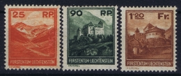 Liechtenstein: 1933 Mi 119 - 121  Very Light Hinged Signed + Certificate Chiavarello